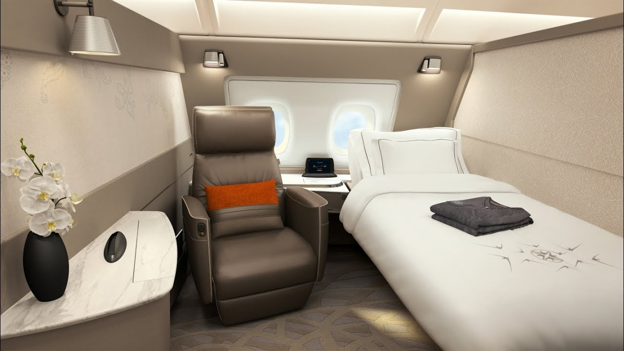 Singapore Airlines A380 First Class Suite London to Singapore ...