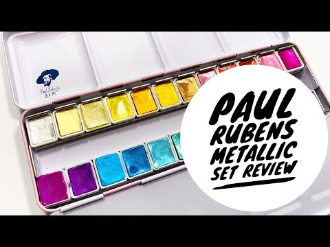 Paul Ruben S 24 Watercolor Metallic Set Review Youtube