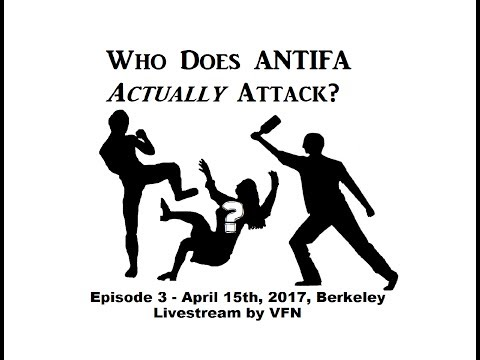 Who Does Antifa Attack? 03 April 15, 2017, Berkeley, CA - Livefeed by Very Fake News