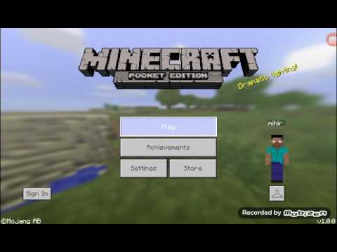 MCPE Journey to the centre of the world