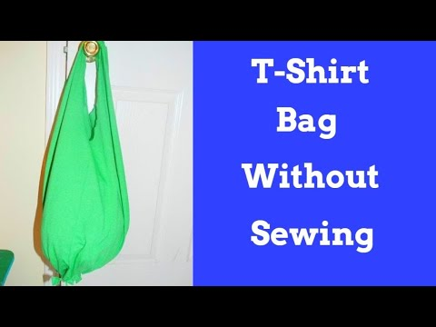 Gone Viral -  How to make a T-shirt into a Bag With out Sewing
