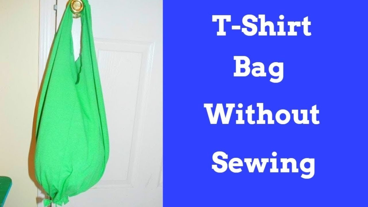 How to make a T-shirt into a Bag With out Sewing - YouTube 3772645a2e