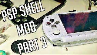 PSP White Housing Mod - VLOG - Part 3 FINAL Assembly - PSP 1000 Japanese Exclusive White Shell