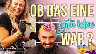 Sowas gab's noch nicht 😳 ICH färbe MEINEM FRISEUR die Haare .. | Dagi Bee