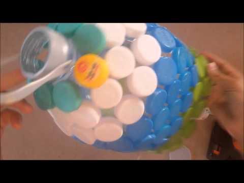 ประดิษฐ์โคมไฟจากฝาขวดน้ำ by.aiwty