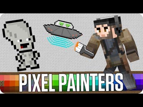 ¡LOS ALIENIGENAS! PIXEL PAINTERS | Minecraft