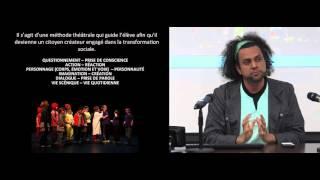 Conférence ISS: «L'art à l'école pour la persévérance scolaire et le mieux-vivre ensemble: La réduction de la violence à l'école par la pratique du théâtre social»