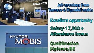 Tenneco and Hyundai mobis Job Recruitment