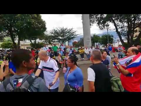 Manifestación contra nicaragüenses 1