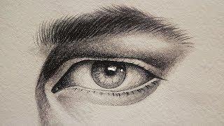تعليم الرسم بالرصاص كيف ترسم عين بشكل جانبي خطوة بخطوة للمبتدئين Mp3