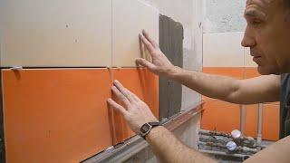 Облицювання плиткою ванної кімнати ч. 11