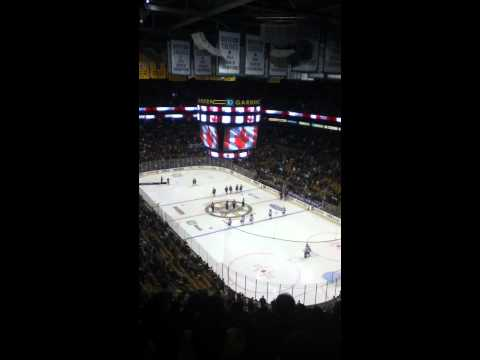 Rene Rancourt Sings O Canada and The Star Spangled Banner
