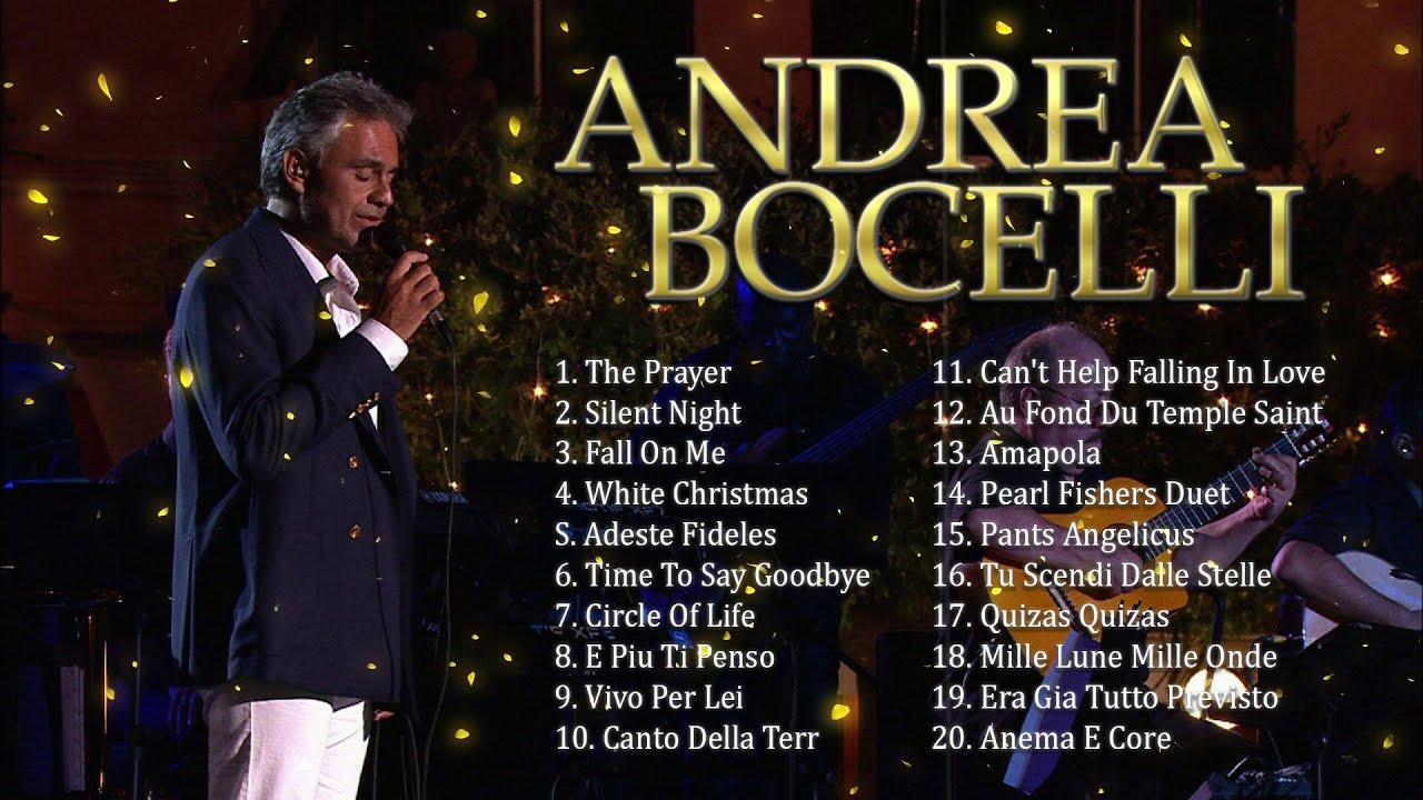 Andrea Bocelli Greatest Hits Playlist 2020 - Andrea Bocelli Greatest Hits Songs