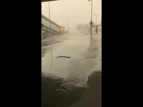 Raging Storm Hits Brisbane Airport