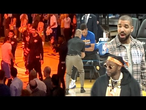LOL CURRY GOT DRAKE GOIN WILD! WARRIORS vs THUNDER GAME VLOG! SIDELINE CLUB TICKETS!! (400K SPECIAL)