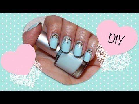 diy tiffany blue nail polish mixing
