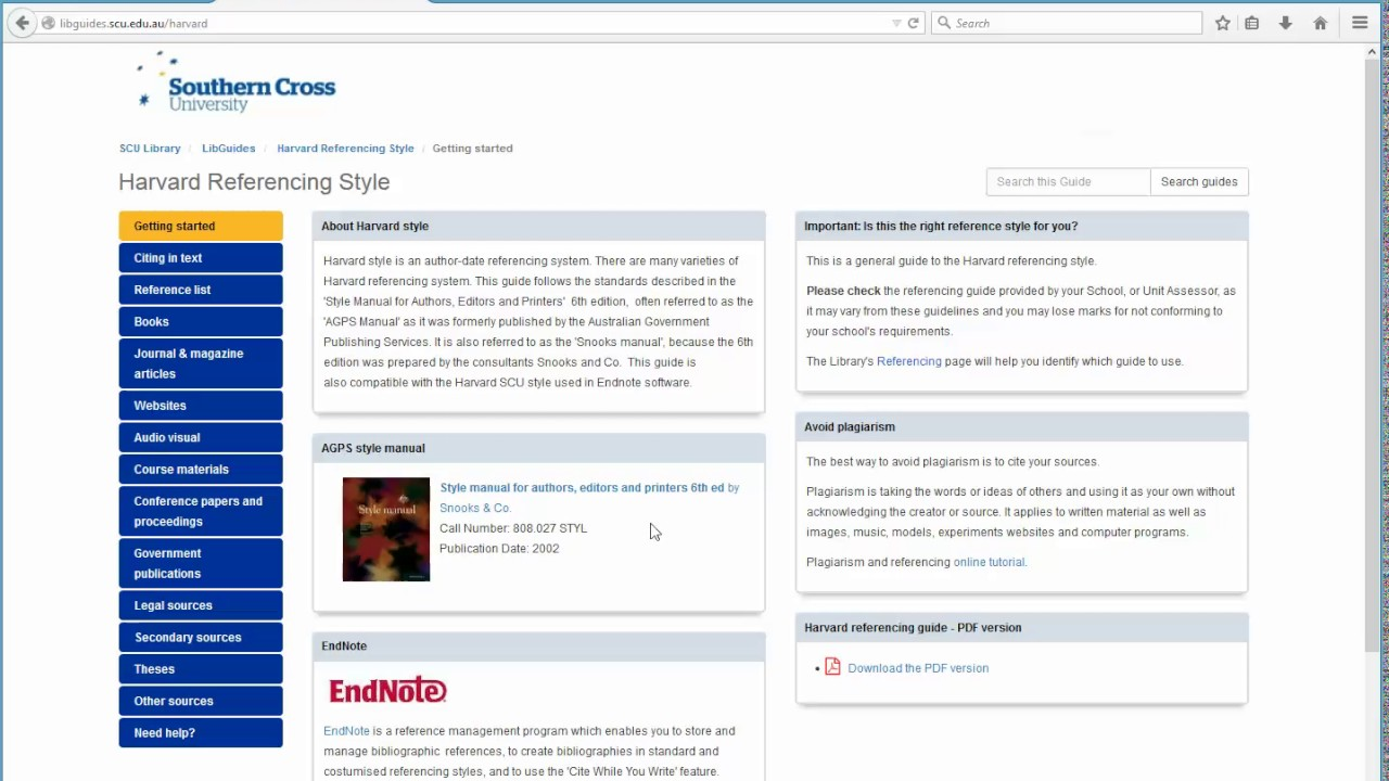 Getting started - Harvard Referencing Style - LibGuides at Southern