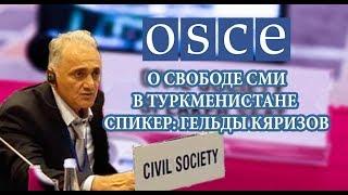 Гельды Кяризова на Заседании ОБСЕ: О Свободе Выражения Мнений и Свободе СМИ в Туркменистане