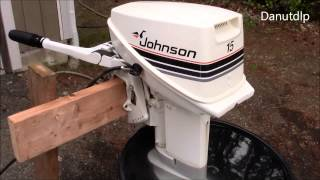 15 hp Johnson Seahorse Outboard Walk through, test run, tips and tricks