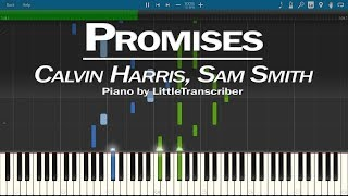 Calvin Harris, Sam Smith - Promises (Piano Cover) Synthesia Tutorial by LittleTranscriber Video