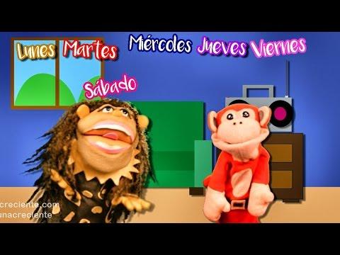 La Cancion de los Dias de la Semana con El Mono Silabo Canciones Infantiles | Lunacreciente