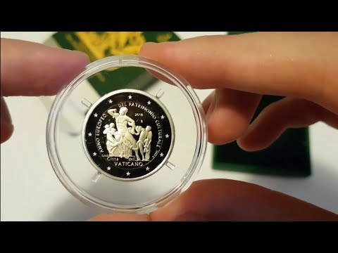 Monete 2€ Euro Commemorative Vaticano 2018 Prima Emissione - 2€ Euro Vatican Coins Umboxing
