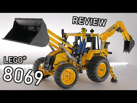 LEGO Technic 8069 Review | LEGO Backhoe Loader | 8069 LEGO Functions And Test