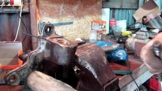 Шкворни газели, установка втулок в цапфы,развальцовка и развертка