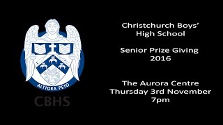 CBHS Senior Prize Giving 2016