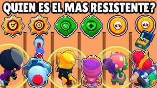 WHICH BRAWLER RESISTS MORE? using GADGETS, ULTIMATE & STAR POWER | SHIELD & HEALING | BRAWL STARS