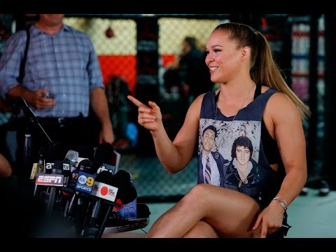 UFC 193: Ronda Rousey Media Day Scrum