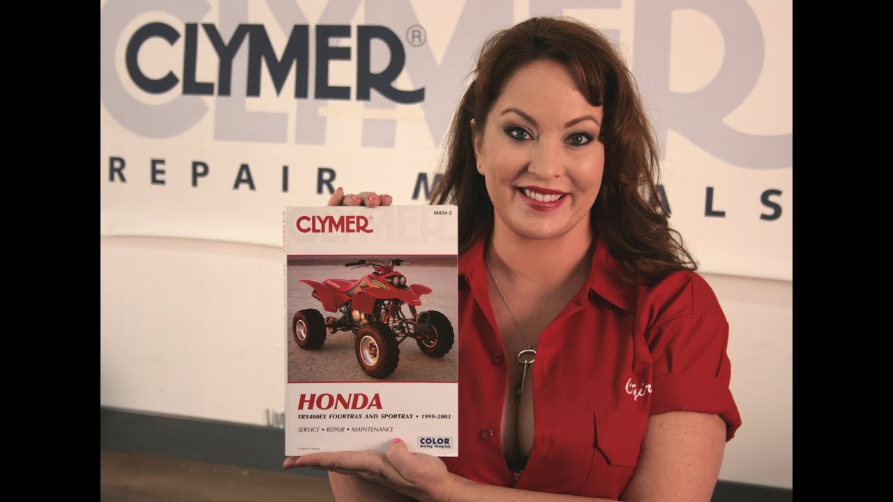 Clymer Manuals Honda Trx400ex Trx400 Trx400x Sportrax Fourtrax Shop 2004 400ex Wiring Diagram Service Repair Manual Video