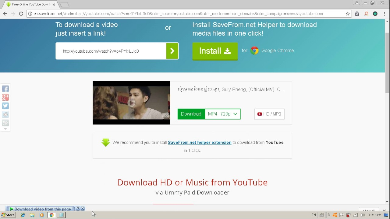 one click downloader for youtube