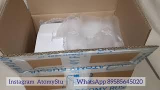 Моя первая посылка из Атоми рус в 2020 году распаковка посылки Atomy корейская продукция косметика