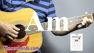guitar chords - open am -  am - khmerchords