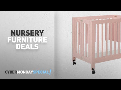 Top Cyber Monday Nursery Furniture Deals: Babyletto Origami Mini Crib, Petal Pink