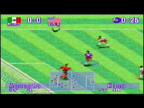 International Superstar Soccer Deluxe (SNES) gameplay