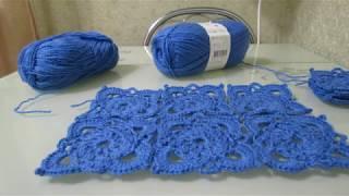 Фото Ажурный квадратный мотив крючком  Openwork Square Crochet Motif