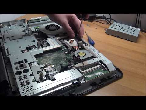 Repair HP All-in-One 200-5000t - Part 1 - hard reset, disassembly, repaste, BIOS reflash