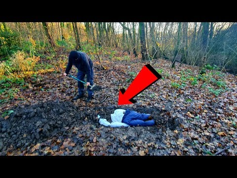 Crazy Psychopath Caught Burying A Body In The Woods! Exploring Gone Wrong