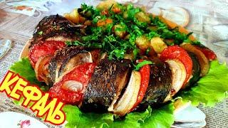 Запечённая Рыба с овощами. обалденно вкусный рецепт