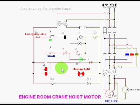 hqdefault crane hoist motor youtube street crane wiring diagram at crackthecode.co