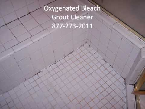 Oxygenated Bleach Grout Cleaner YouTube - Bleaching grout floor tiles