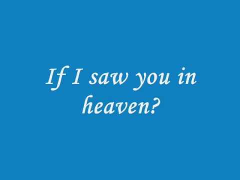 Tears in Heaven (lyrics)