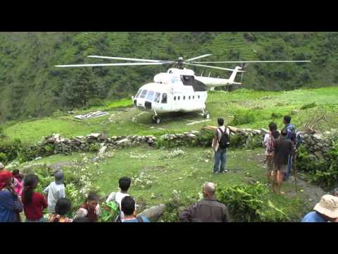 2015 Nepal - World Food Program helicopter