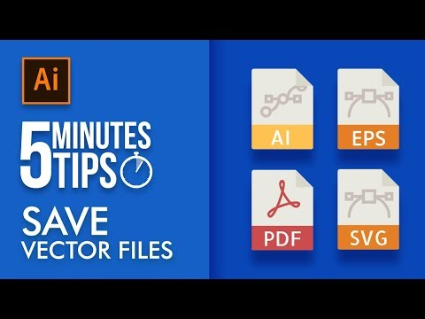 Vector File Formats in Illustrator - 5 Minutes Tip