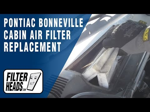 how to replace cabin air filter pontiac bonneville - youtube 2000 honda odyssey fuel filter location