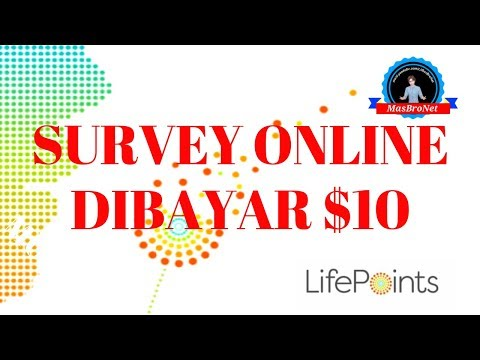 SURVEY ONLINE DIBAYAR $10 LifePoints