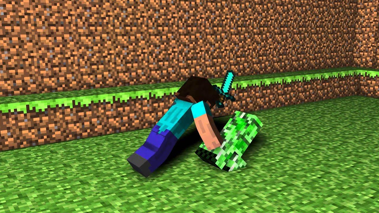 Steve kill creeper minecraft animation youtube - Minecraft creeper and steve ...