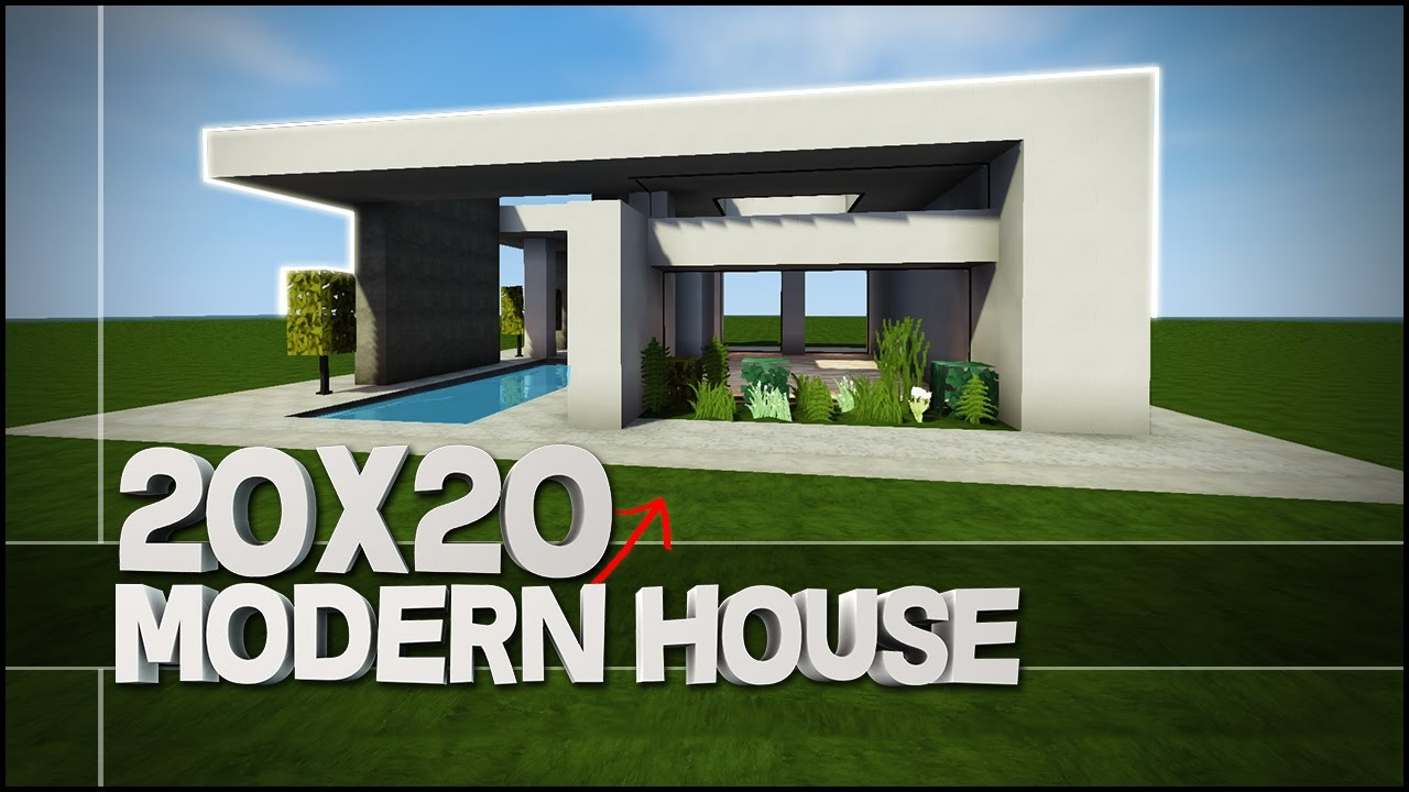Minecraft house tutorial 20x20 modern house best house for 20x20 house